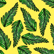 canvas print picture - Seamless pattern of leaves. Print for fabric and other surfaces.
