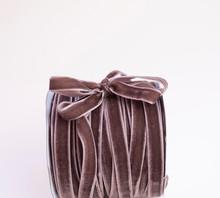 A Hank Of Brown Velvet Ribbon ...