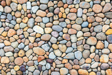 Colorful Pebble Stone Wall Tex...