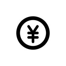 Yen Monetary Unit Icon,vector,logo