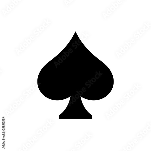 Vászonkép Playing card symbol spades Drawings icon, vector, logo