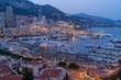 Cityscape of Monaco in evening light