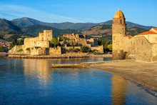 Collioure Town, France, Royal Palace And Church