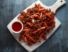 Crispy Shredded Beef With Carr...