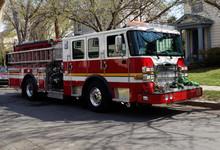 Fire Truck On The Scene Of Nei...