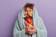 Photo Of Upset Sick Man Has Re...