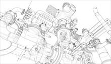 Sketch Of Industrial Equipment...
