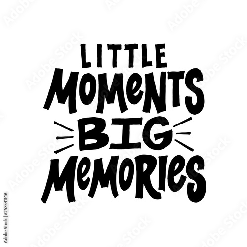 Little moments Big memories Canvas-taulu