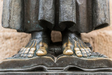 Detail Of The Bare Feet Of The...