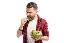 Healthy Eating Makes Man Feel Miserable