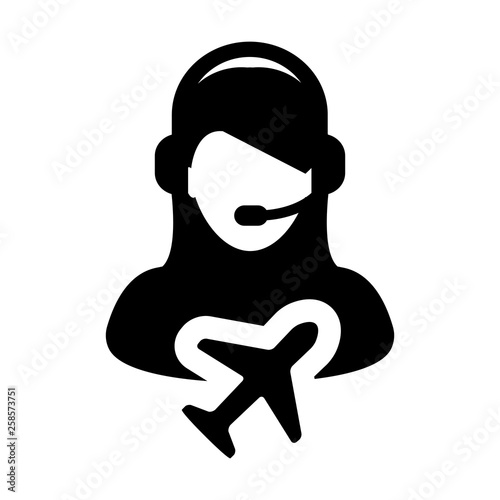 Ticket Customer service icon vector male person profile
