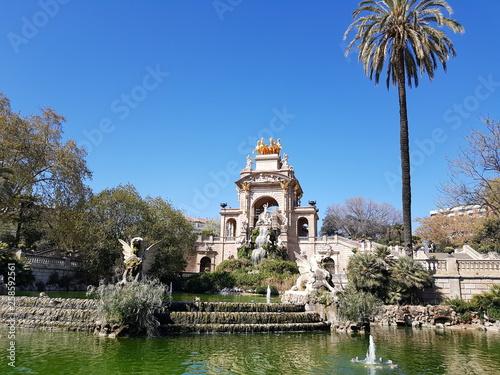 Fotografie, Obraz  parc espagnol ,paysage de la ciutadella en espagne