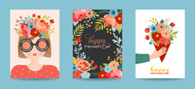 Mothers Day Greeting Card Set....