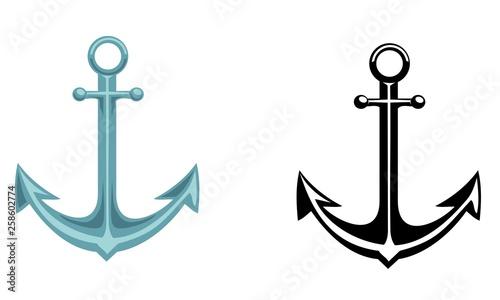 Fotografiet Vector sailor set of anchor