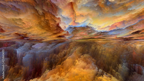 Fotomural  Virtual Abstract Landscape