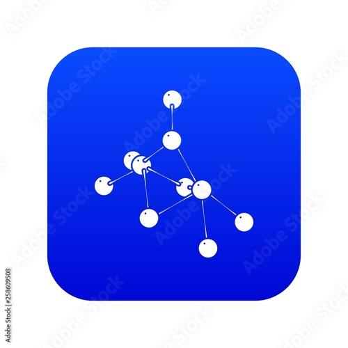 Fotografia, Obraz  Ethyl acetate icon blue vector isolated on white background