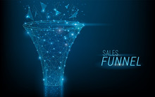 Sales Funnel Designed In 3D Po...