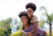 Leinwandbild Motiv Happy african american love couple