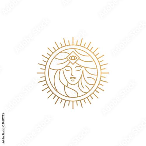 Obraz na plátně  goddess logo design