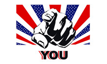 America Needs You, Uncle Sam, Wants You, USA, Army, Flag, Recruiting, Patriotic, Patriotism, US, The United States Of America, America, You