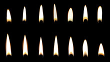 Set Of Different Candle Flames...