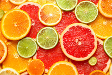 Slices Of Fresh Citrus Fruits ...