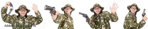 Canvas Prints Military Collage of funny soldier photos