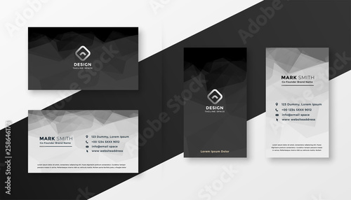 Fototapeta abstract black and white business card template obraz