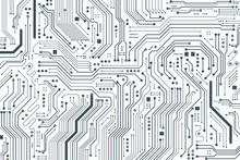 Flat Microelectronics Circuits Board Background.