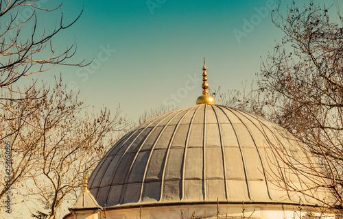 Fotografie, Obraz  Outer view of dome in Ottoman architecture