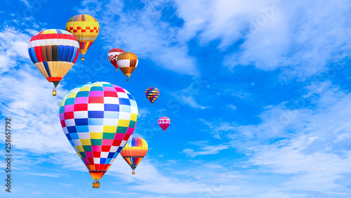 Recess Fitting Balloon Colorful hot air balloon fly over blue sky 2