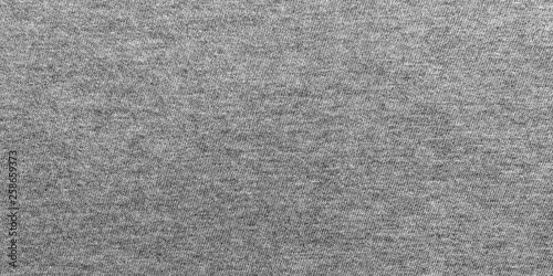 Panorama gray fabric texture and background with copy space. Fototapet