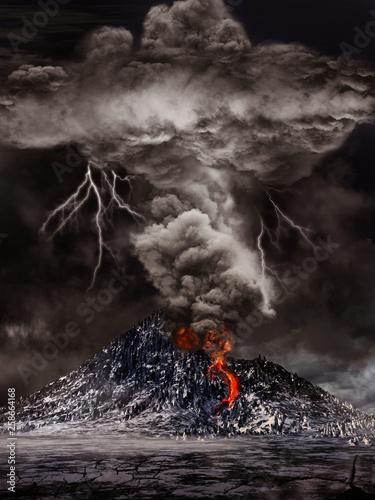 Volcano eruption Fototapeta