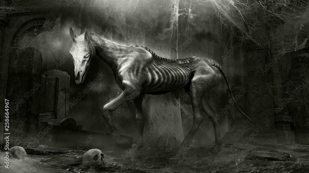 Fototapety, obrazy: Demonic Horse