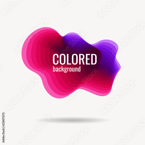 Fotografía  Abstract color background of plastic shape with transparent gradient