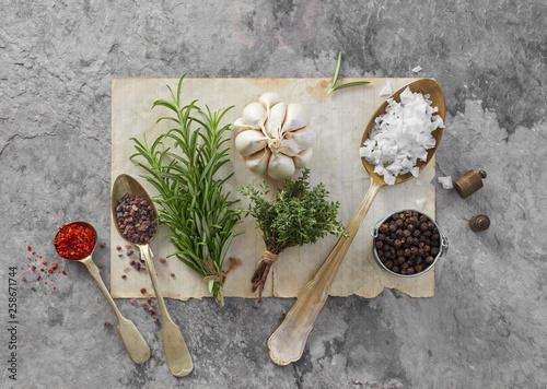 Cadres-photo bureau Jardin Fresh herbs and spices