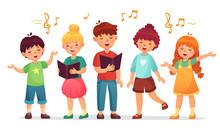 Singing Kids. Music School, Ki...