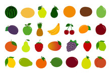 Set Of Fruit And Berry Icons. ...