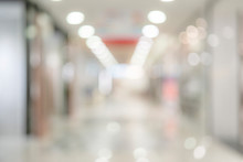 Abstract Blur Background Of Supermarket With Shelf And Product
