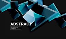 Glossy Mosaic Style Geometric ...