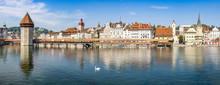 Altstadt Von Luzern Mit Kapell...