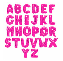 English Alphabet Pink
