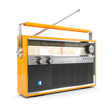 Portable Orange Transistor Rad...