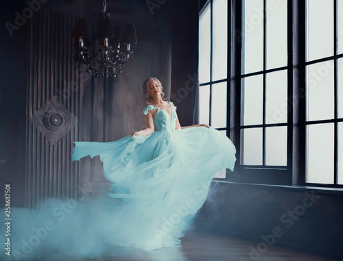 The magical transformation of Cinderella into a beautiful princess in a luxurious dress Poster Mural XXL