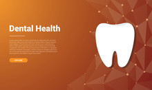 Human Dental Tooth Template Banner Design With Free Space For Text - Vector