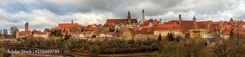 Fotomural  Rothenburg ob der Tauber with traditional German houses, Bavaria, Germany
