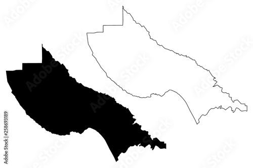 Counties In California Map.Santa Cruz County California Counties In California United States