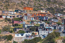 Township View In Hout Bay Area, Cape Town, South Africa