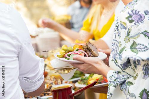 Fotografie, Obraz  Outdoor alfresco dining garden Party BBQ Banquet