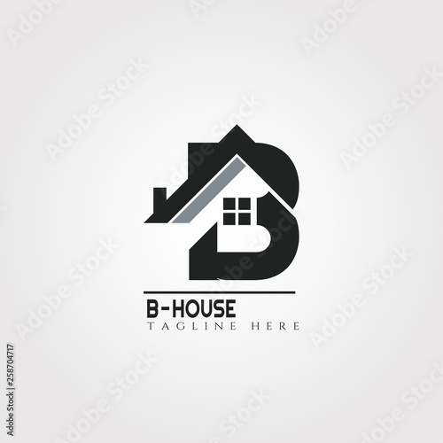 House Icon Template With B Letter Home Creative Vector Logo Design Architecture Building And Construction Illustration Element Buy This Stock Vector And Explore Similar Vectors At Adobe Stock Adobe Stock
